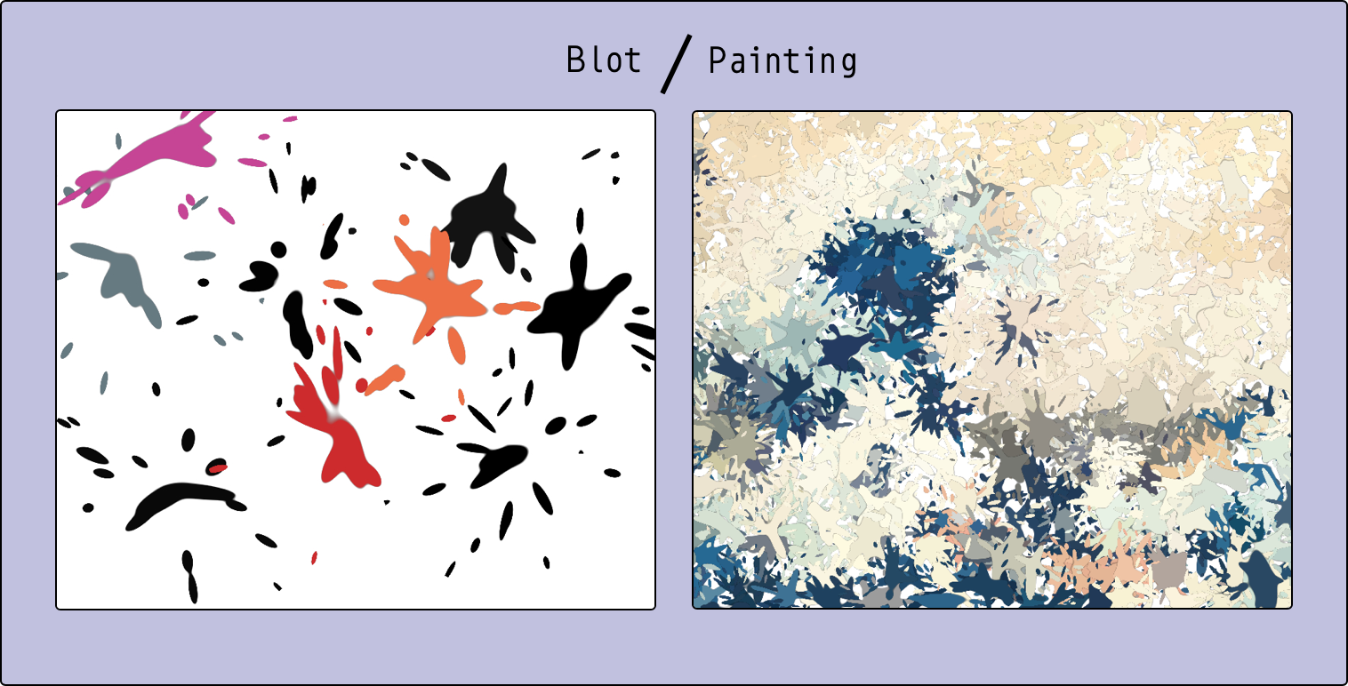 The image from Blot/Painting p5js sketch